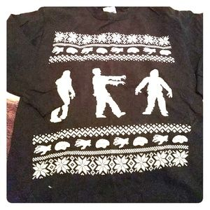 Zombie style Christmas ugly sweater for boys.